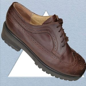VTG Robert Wayne Brown Wingtip Chunky men's shoes